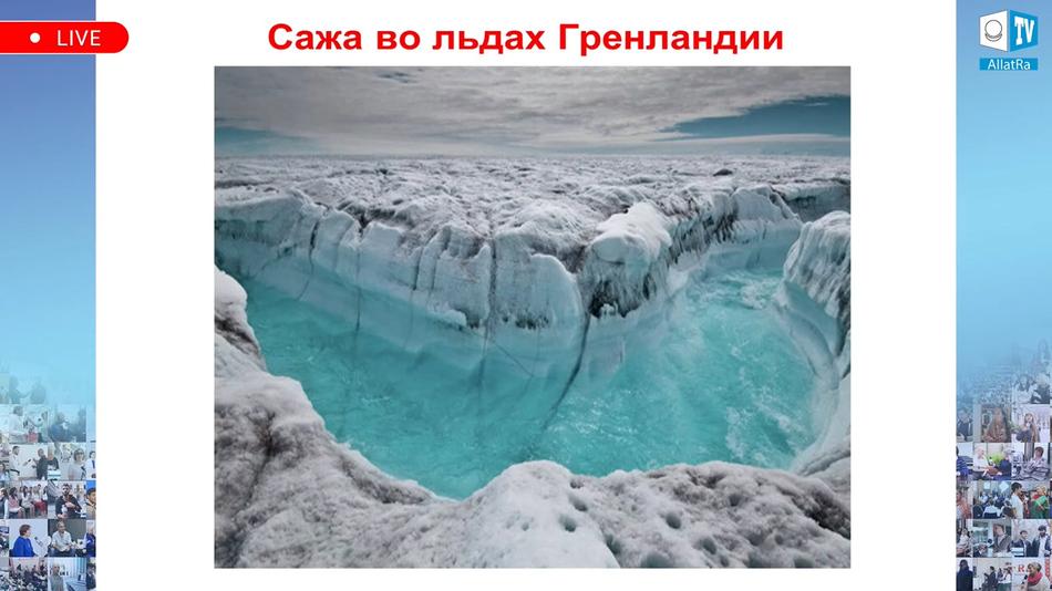 Сажа во льдах Гренландии