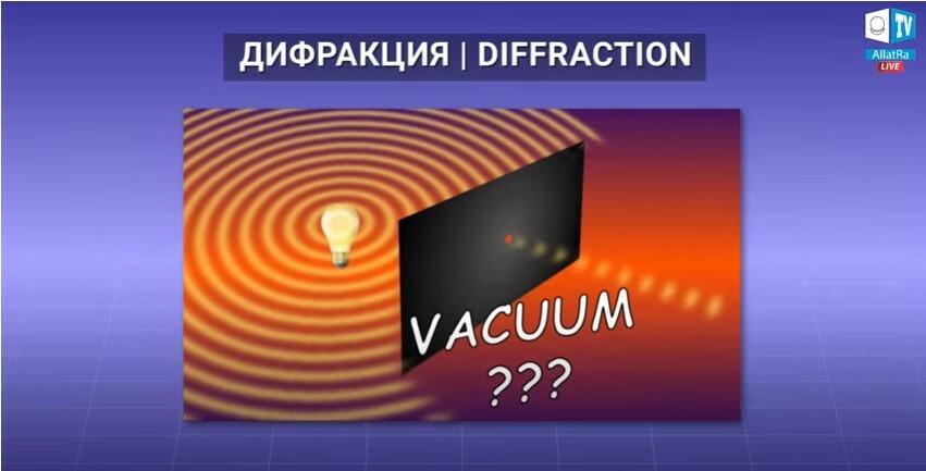 Дифракция, вакуум