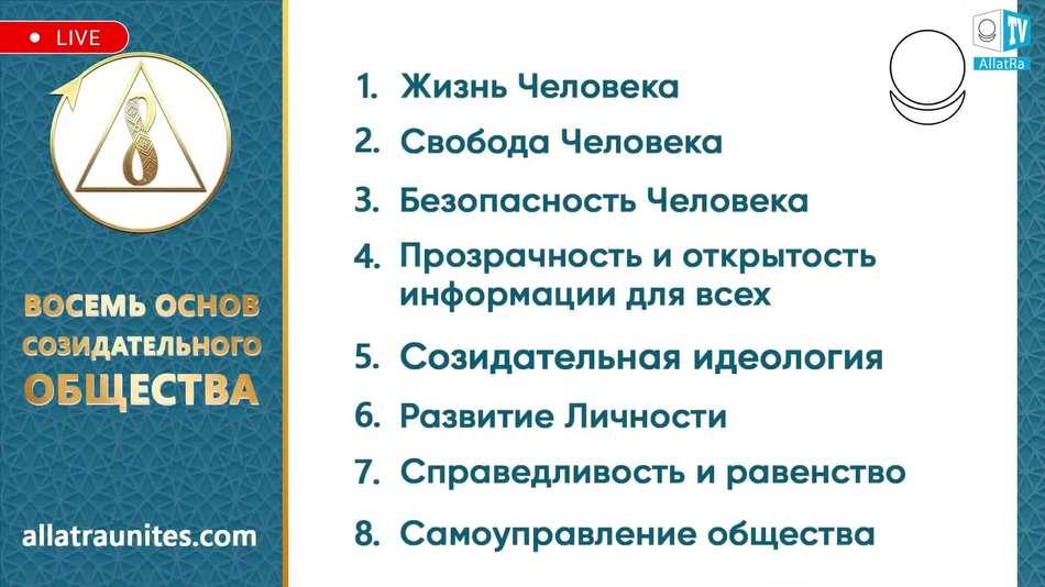 восемь основ созидательного общества