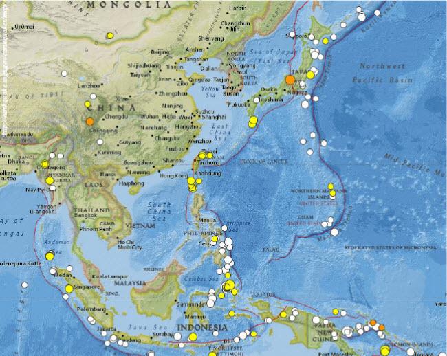 Катаклизмы в Восточной и Юго-Восточной Азии