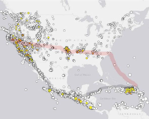 Катаклизмы в Северной Америке