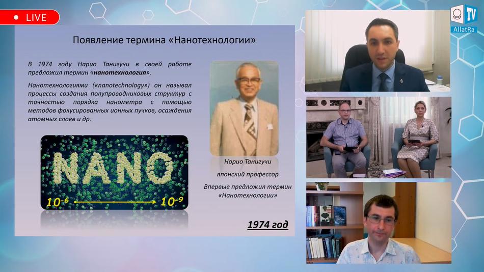 Появление термина «Нанотехнологии» Нарио Танигучи