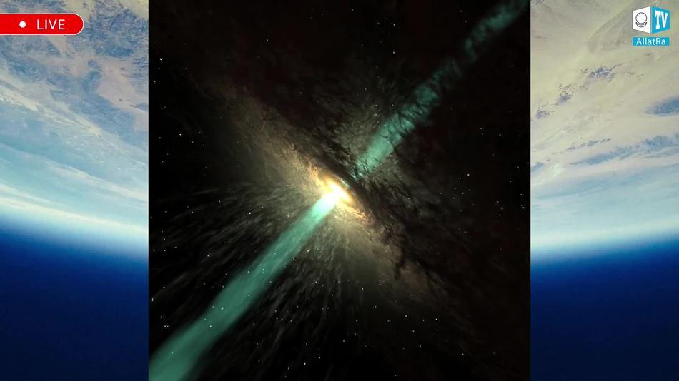 чёрные дыры в центре далёких галактик