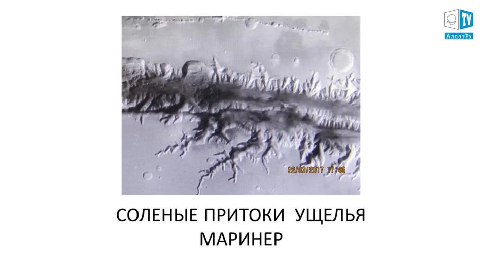 притоки ущелья Маринер, фото Марса
