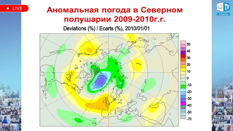 аномальная погода в Северном полушарии