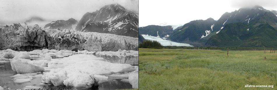 Ледник Петерсен на Аляске 1917 - 2015