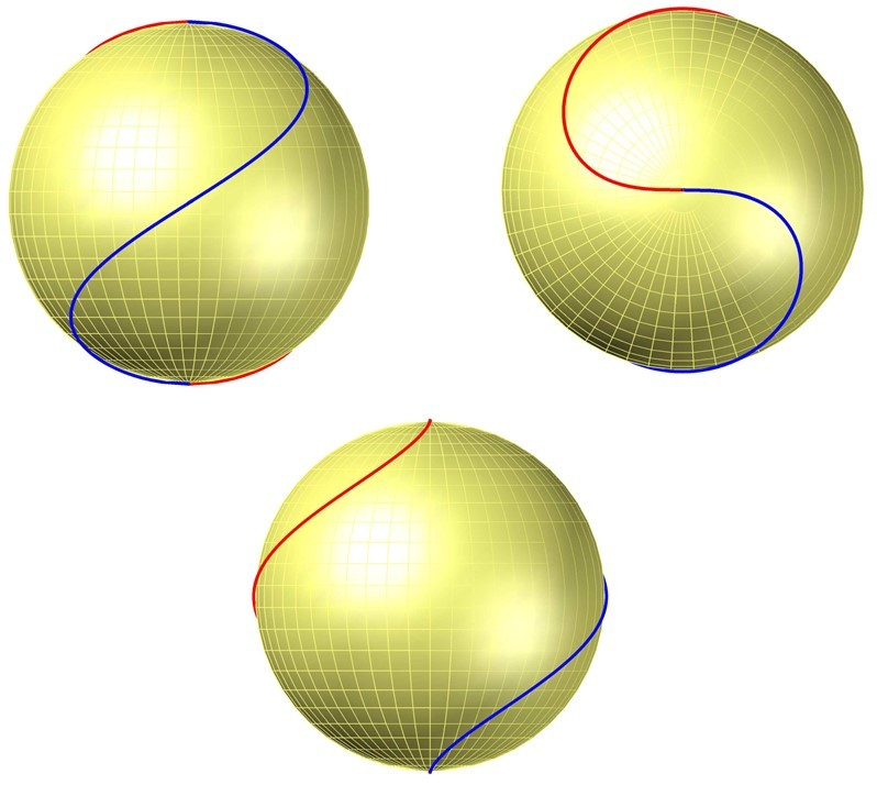 Восходящая и нисходящая линии второго магнитного поля Солнца
