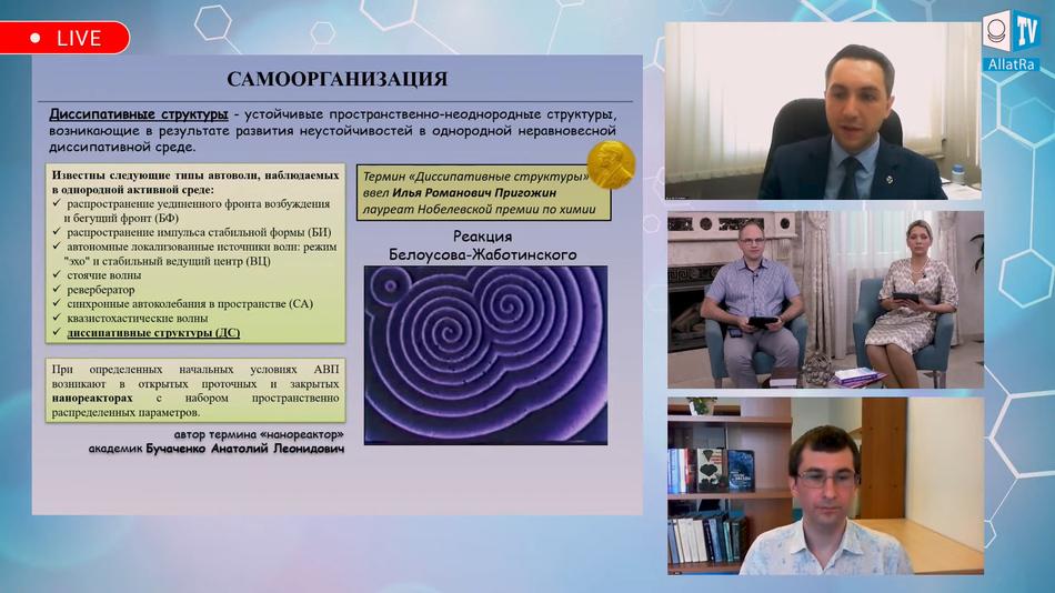 нанореактор, Диссипативные структуры
