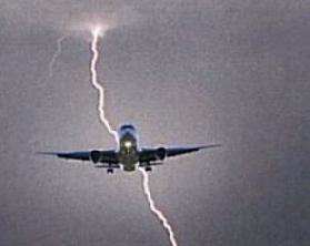 Удар молнии в Риме попал в самолёт 19 августа 2015