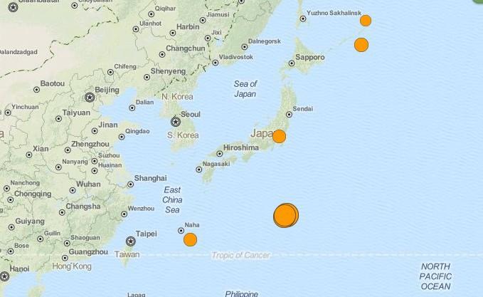 Мощное землетрясение в Японии магнитудой 8.5, 30 мая 2015