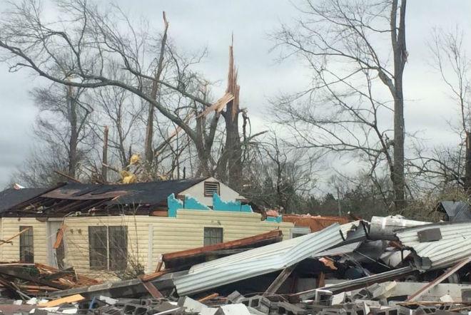Торнадо в США 21 января 2016