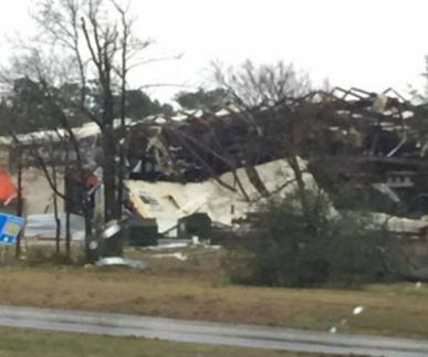 Торнадо в США 12 декабря 2015