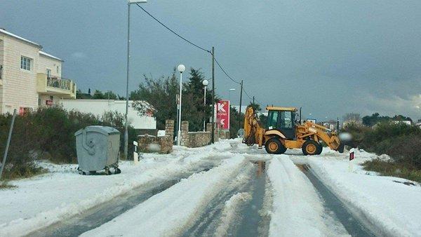 Снегопад в Хорватии 07 марта 2016