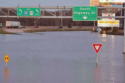 Наводнение в США 02 января 2016