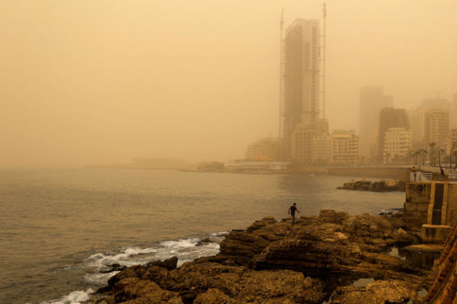 Песчаная буря в Египте 09 сентября 2015