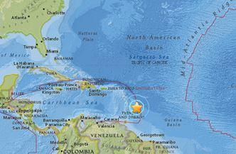 Землетрясение в районе острова Барбадос 16 июля 2015