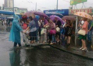 Наводнение в Киеве, Украина 28 июля 2015