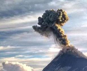 Извержение вулкана в Гватемале 12 апреля 2016