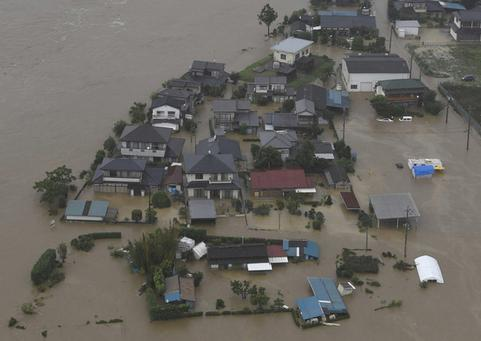 Наводнение в Японии 10 сентября 2015