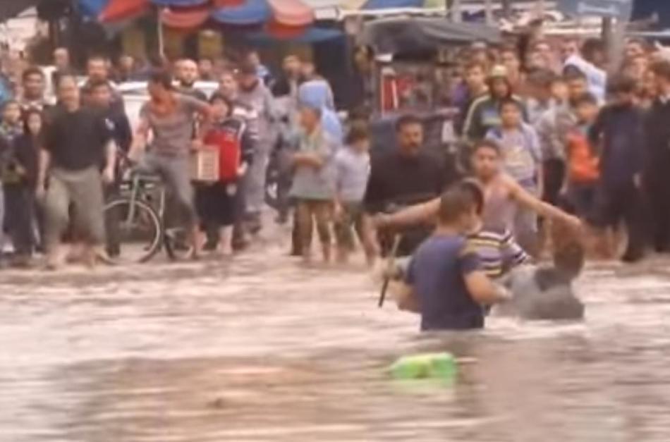 Наводнение в Секторе Газа 10 ноября 2015