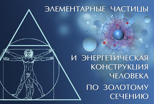 Элементарные частицы и энергетическая конструкция человека по золотому сечению