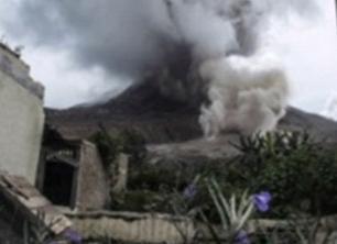 Извержение вулкана на острове Суматра 21 сентября 2015