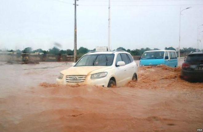 Наводнение в Анголе 05 марта 2016