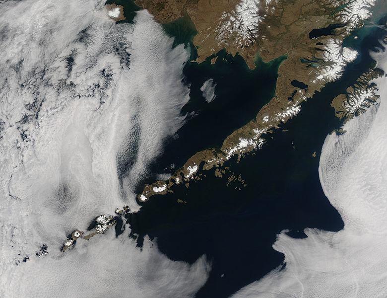 Землетрясения на Алеутских островах 08 октября 2015