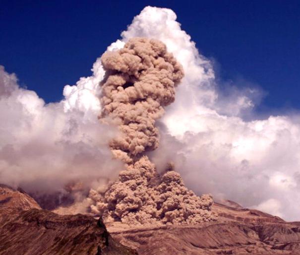 Извержение вулкана на Камчатке 29 октября 2015