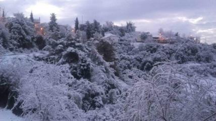 Снегопады в Греции 18 января 2016
