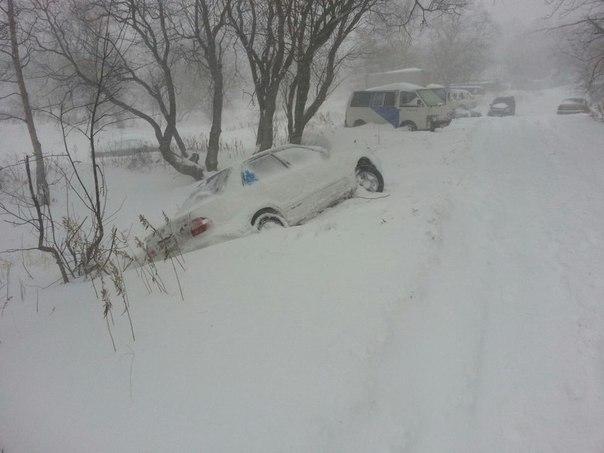 Снегопады в России 16 марта 2016
