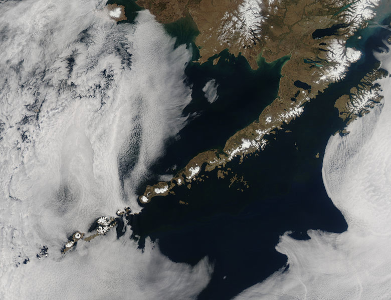 Серия землетрясений на Алеутских островах 19 марта 2016