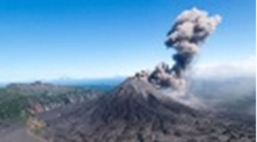 Извержение вулкана на Камчатке 19 января 2016