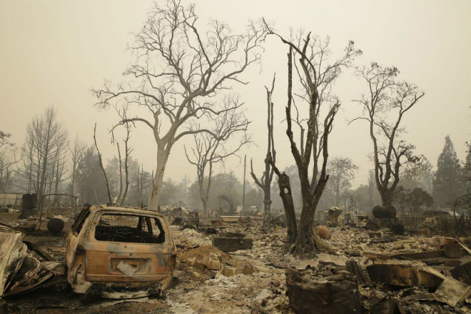Пожар в Калифорнии 13 сентября 2015