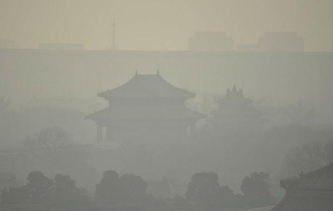Загрязнение воздуха в Китае 20 декабря 2015