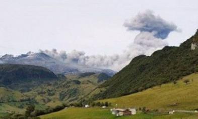 Извержение вулкана в Колумбии 31 августа 2015