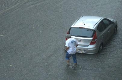 Наводнение в Будапеште 17 августа 2015
