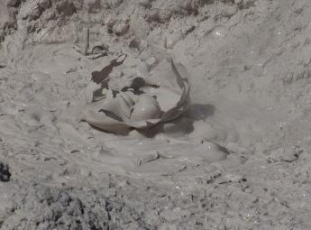 Извержение грязевого вулкана в Крыму 03 декабря 2015