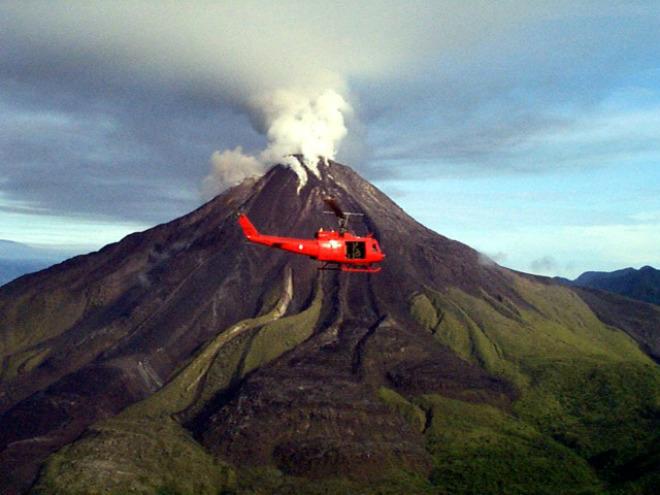 Извержение вулкана в Папуа-Новая Гвинея 04 марта 2016