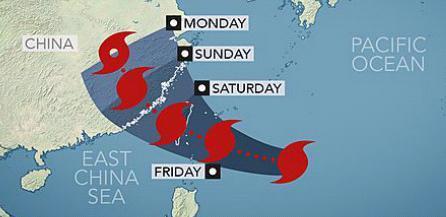 Тайфун приближается к Китаю и Тайваню 07 августа 2015
