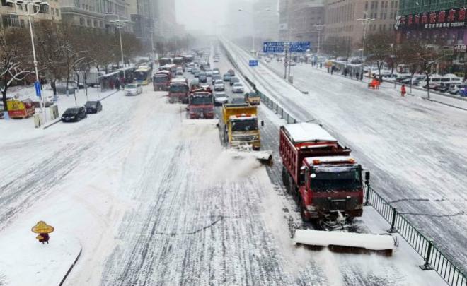 Снегопад в Китае 02 декабря 2015