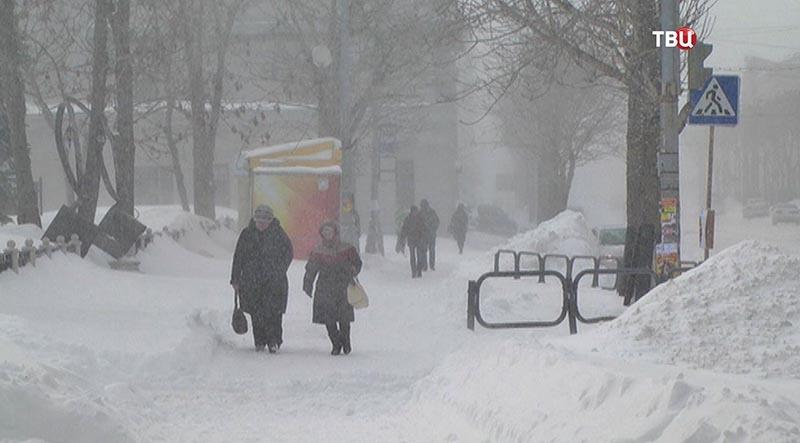 Снегопады в России 01-02 марта 2016