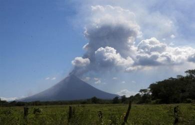 Извержение вулкана в Никарагуа 12 января 2016