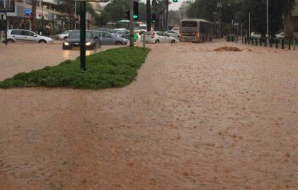 Наводнение в Израиле 28 октября 2015