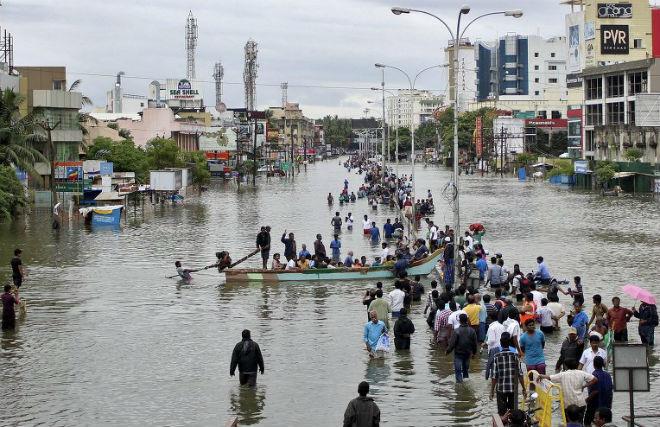 Наводнение в Индии 03 декабря 2015