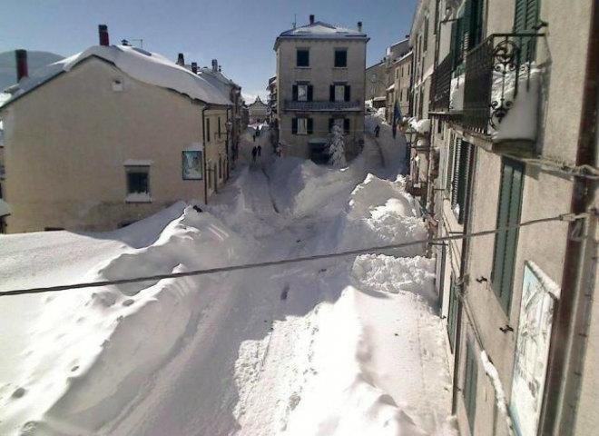 Снегопад в Италии 27 ноября 2015