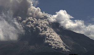 Извержения вулкана Колима в Мексике 10 июля 2015