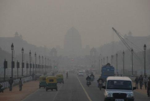 Загрязнение воздуха в Индии 04 декабря 2015