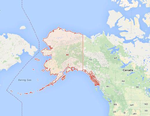 Землетрясения на Аляске 06 ноября 2015