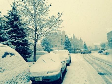 Снегопад в Финляндии 22 ноября 2015